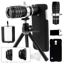 Big sale 9 Piece Camera Photo Kits:12X Optical Telescope+Three Awesome Lenses+Mini Tripod For Samsung Galaxy S8 S6 S7 Edge Plus/S5 i9600