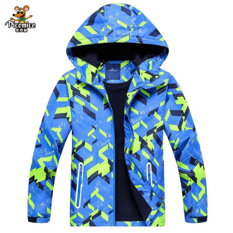 Coat Boy Jacket Autumn Polar-Fleece Hooded Fashion Children Windproof Soft for 3-12-Years