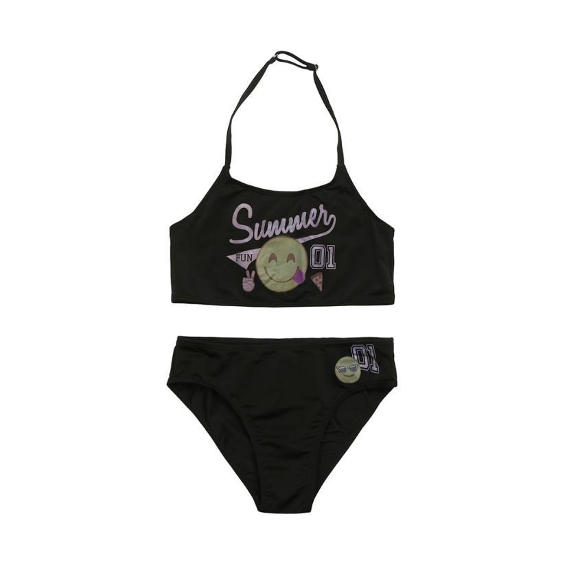 TELOTUNY 2018 girls swimwear BABY bikinis Kid Chidren Baby Girl Letter Smile BIkini Set Swimwear Swimsuit Bathing Clothes M26