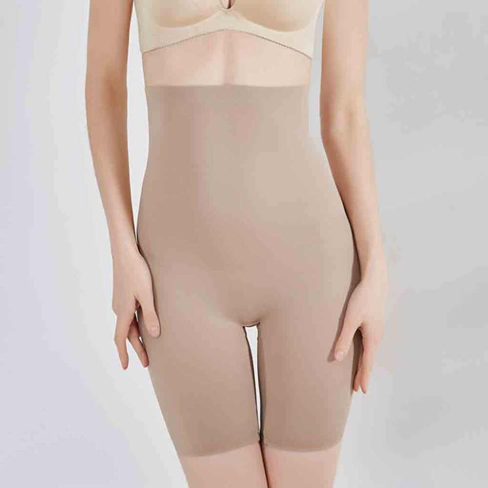 Women Shapewear Tummy Control Shorts High-Waist Panty Mid-Thigh Body Shaper Bodysuit Slimming Butt Lifter Waist Trainer Panty B4