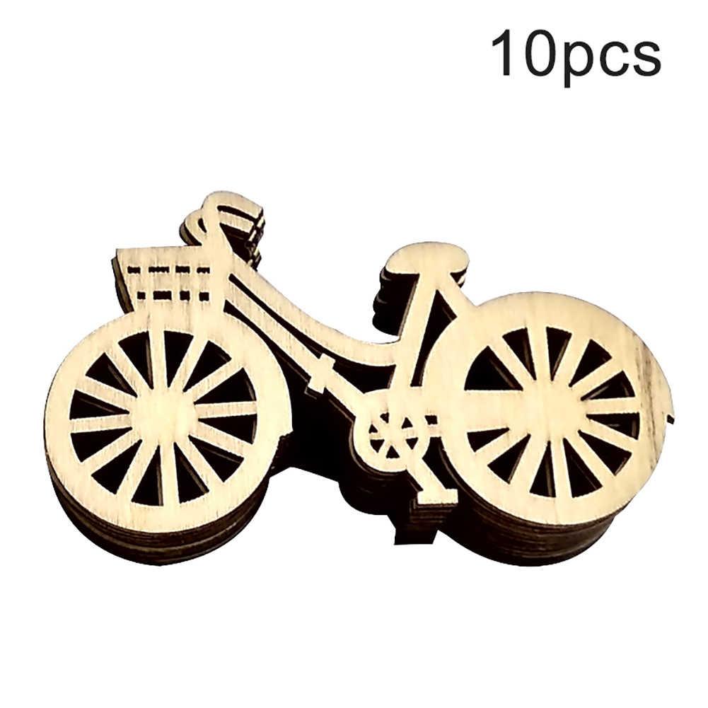 10Pcs Projeto Da Bicicleta Bike Action figure brinquedo para crianças De Madeira Bicicleta DIY Costura Scrapbooking Artesanato DIY Art Decor