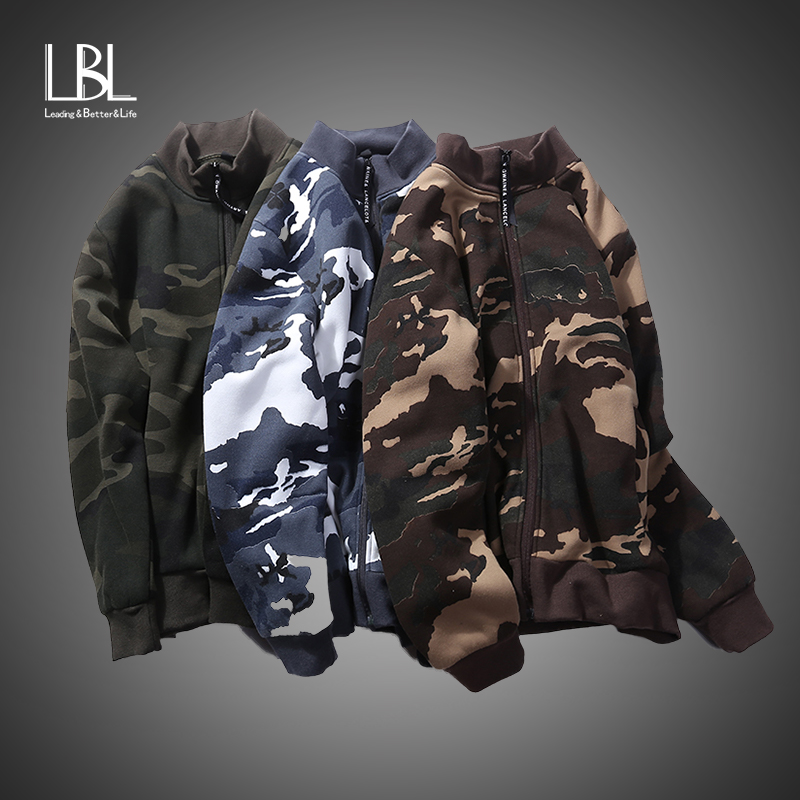 2018 Autumn Camouflage Hooded Jacket Men New Fashion Brand Hoodies and Sweatshirts Mala Slim Fit Zipper Military Bomber Jackets