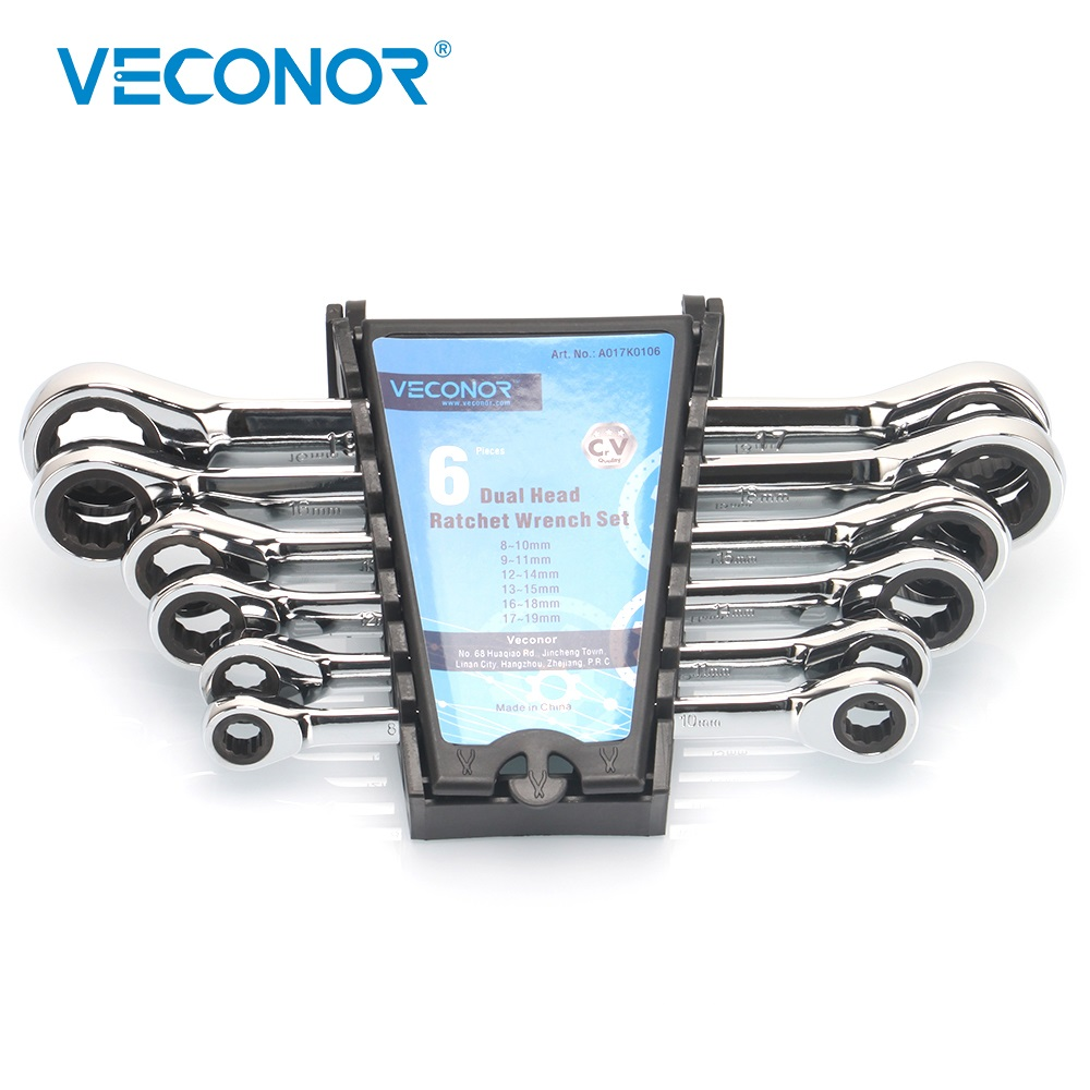 buy 8x10 17x19mm ratchet wrench set dual head 72t set of ratcheting spanners. Black Bedroom Furniture Sets. Home Design Ideas