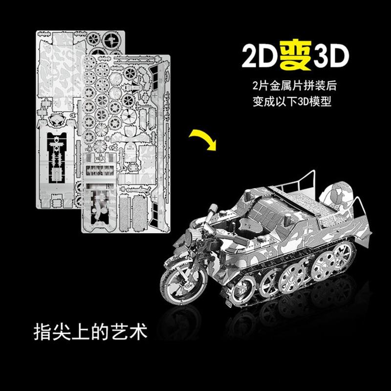 Nan yuan 3D Metal Puzzle SD.KFZ.2 Kleines Kettenkraftrad DIY Laser - Juegos y rompecabezas - foto 3