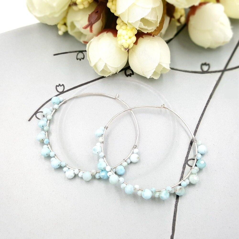 prata esterlina grande hoop handwork brincos feminino moda jóias diárias