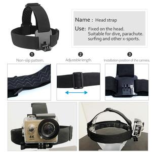 Image 3 - Pour Go Pro montage ceinture réglable sangle de tête bande Session pour Gopro Hero 6/5/4/3 SJCAM Xiaomi Yi 4k Action caméra accessoires