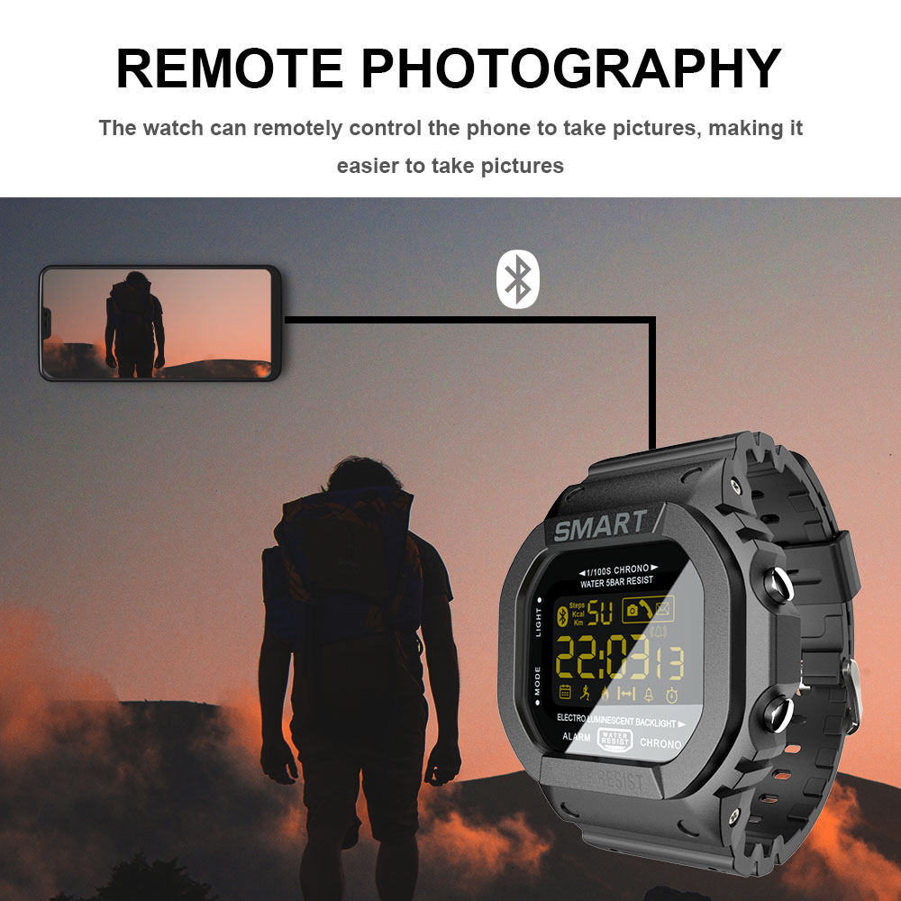LOKMAT Bluetooth Smart watch men Sport pedometer Waterproof Call Reminder clock digital SmartWatch For ios Android Phone