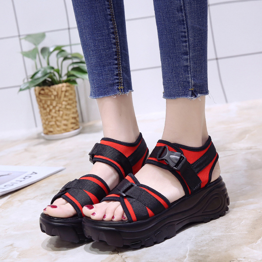 TASSLYNN 2018 High Heels Women Sandals Western Style Summer Fashion Cloth Casual Shoes for Woman Sandals Ladies Shoes Size 35-39