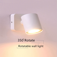 black white LED wall light modern round wall lamp for Bedroom Loft Reading Wall Indoor Sconce Bedside fixtures stair lighting цены