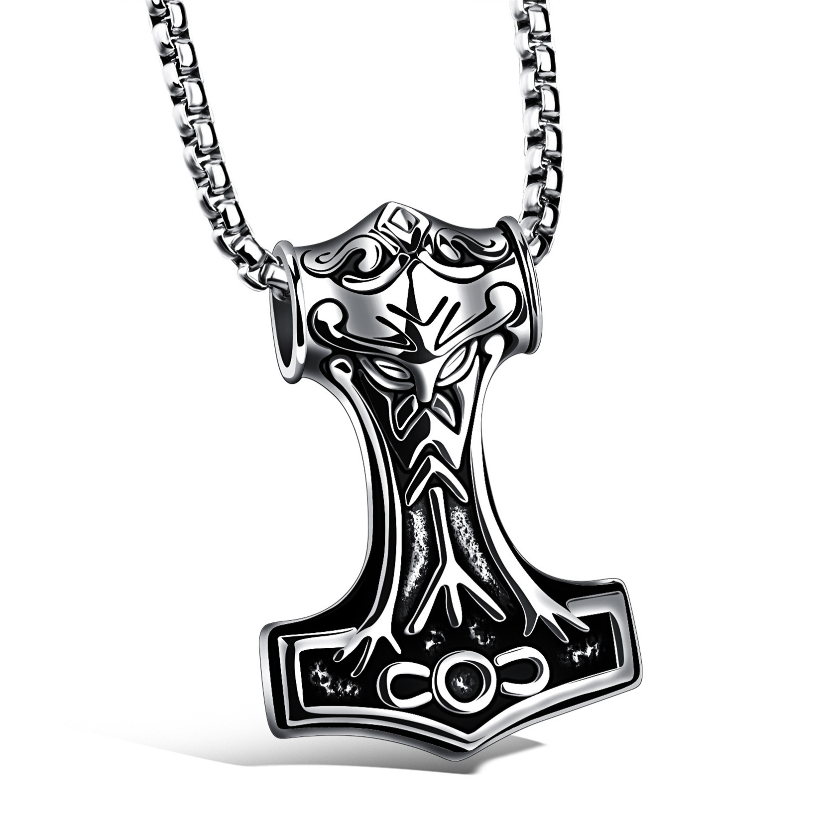 jiayiqi 2017 punk men men stainless steel thor hammer  click here to buy now jiayiqi 2017 punk men stainless steel thor hammer pendant necklace rock style statement necklace jewelry accessories