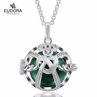 Fashion Crystal Cage Eudora Harmony Ball Pendant with Baby Chime Sound Angel Caller Pendants Necklace Jewelry Pregnant Gift