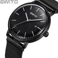 Top Brand Men Watch Luxury Ultra Thin Business Wristwatch Magnet Buckle Waterproof Clock Calendar Male Quartz