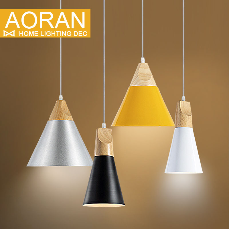 Slope Lamps Pendant Lights Wood And Aluminum Restaurant