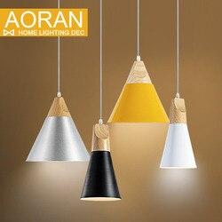 Slope lamps pendant lights wood and aluminum restaurant bar coffee dining room led hanging light fixture.jpg 250x250