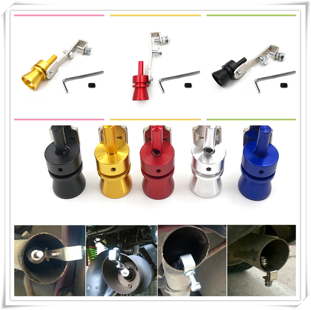 Car Turbo Sound Exhaust Muffler Pipe Whistle Simulator Whistler