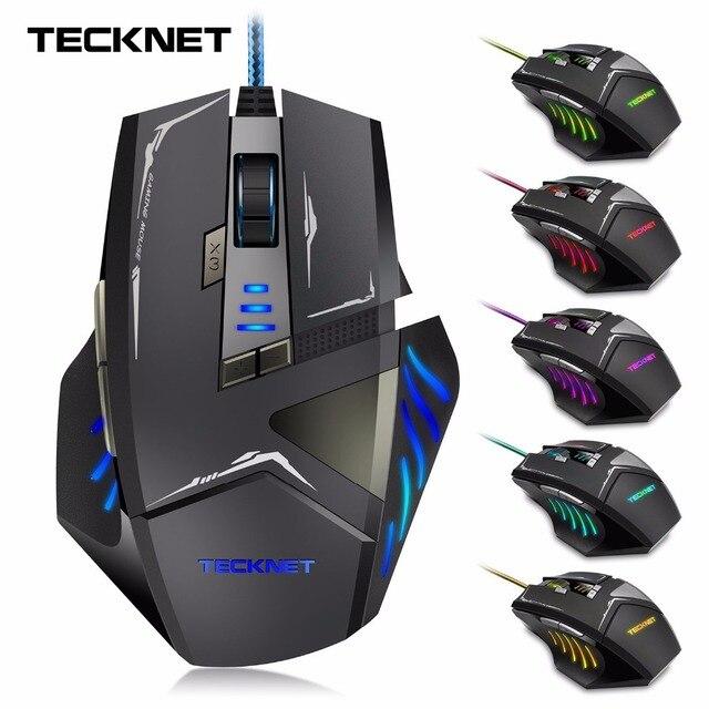 TeckNet Gamer 7000 DPI Optique Filaire Gaming Mouse Gamer Pour PC Portable  accessoires Informatiques