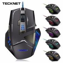 TeckNet Gamer Gamer 7000 DPI Óptico Con Cable Ratón Para Juegos Para PC Portátil accesorios para el Ordenador
