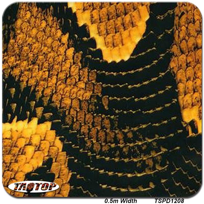 ΞTaotop ts1208 0.5 M * 10 m amarillo caliente piel de serpiente ...