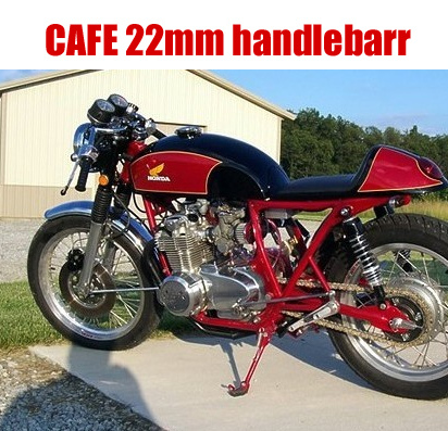 CAFE motorcycle refit plating / Black Retro diameter 22mm handlebarr separation leading separation handlebars 32016 hot cafe racer flat seat retro vintage locomotive refit motorcycle leather black a cover high quality waterproof
