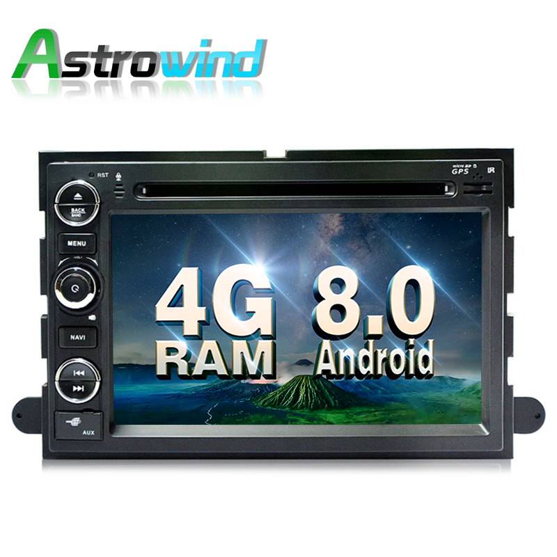 8 Core,4G RAM,Android 8.0 Car GPS Navigation Stereo Media Radio For Ford Explorer Fusion F150 F500 F450 Mustang Edge Expedition