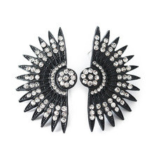 Qingdao Vintage European and American Creative fan Earrings fashion personality exaggerated  aliexpress popular