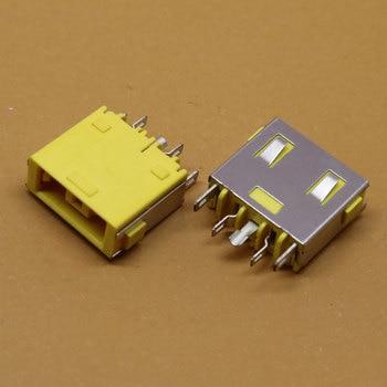 ChengHaoRan 1 Piece Yellow Laptop DC Power Jack Socket Connector For Lenovo G400 G405S G505 G490 G500 Z501,DC-218