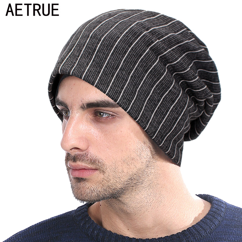 AETRUE Autumn Beanie Knitted Hat Women Winter Hats For Men Fashion Caps Male Warm Baggy Skullies Beanies Bonnet Brand Mask Hat