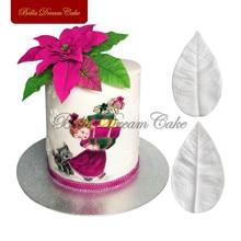 زنبق الأوركيد الجنكة ورقة وزهرة البتلة سيليكون veiner العفن زهرة تزيين الكعكة فندان sugarcraft أداة خبز