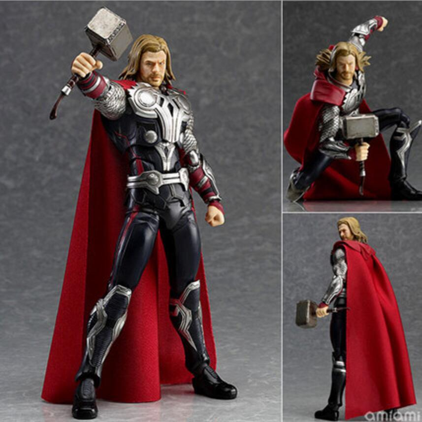 Original Box The Avengers Figma Thor Action Figures Anime Super Hero PVC Model Collection Baby Kids Toys Gift high quality the avengers thor cosplay hammer thor s hammer action figure super hero collection toy ems free shipping