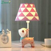 Deer Dimmable LED Desk Table Lamp Bedroom Bedside Lamp Warm Creative Children's Room Cute Princess Girl Living Room Table Light