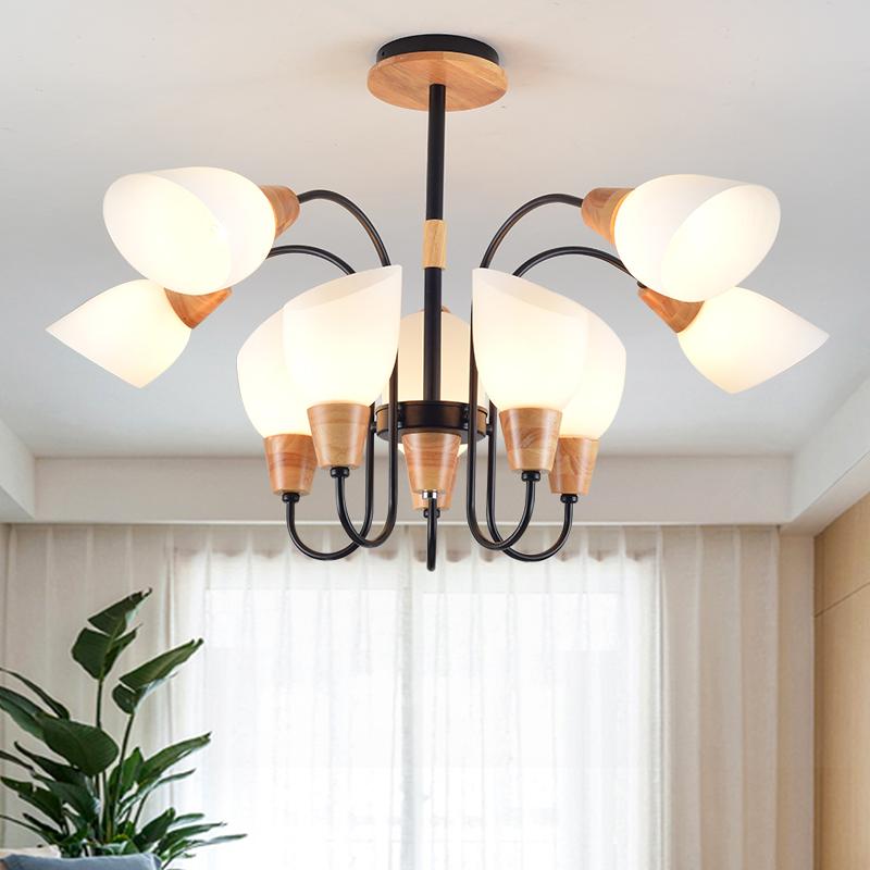 Amerikanischer Kronleuchter Holz Kunst Eisen Lampe Kreative Persnlichkeit Schlafzimmer Licht Postmodernen Baum Wohnzimmer ZL12