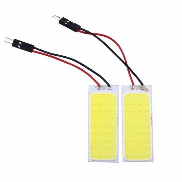 36 2 pcs HID Brilhante COB LEVOU Painel de Luz Eficiente Para O Interior Do Carro Porta Cúpula Tronco Lâmpada de Leitura Branco