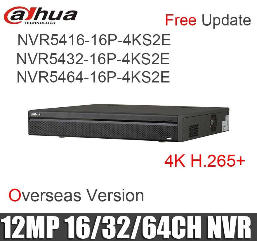 Dahua NVR5416 16P 4KS2E NVR5432 16P 4KS2E NVR5464 16P 4KS2E NVR 16PoE ports 4K H 265