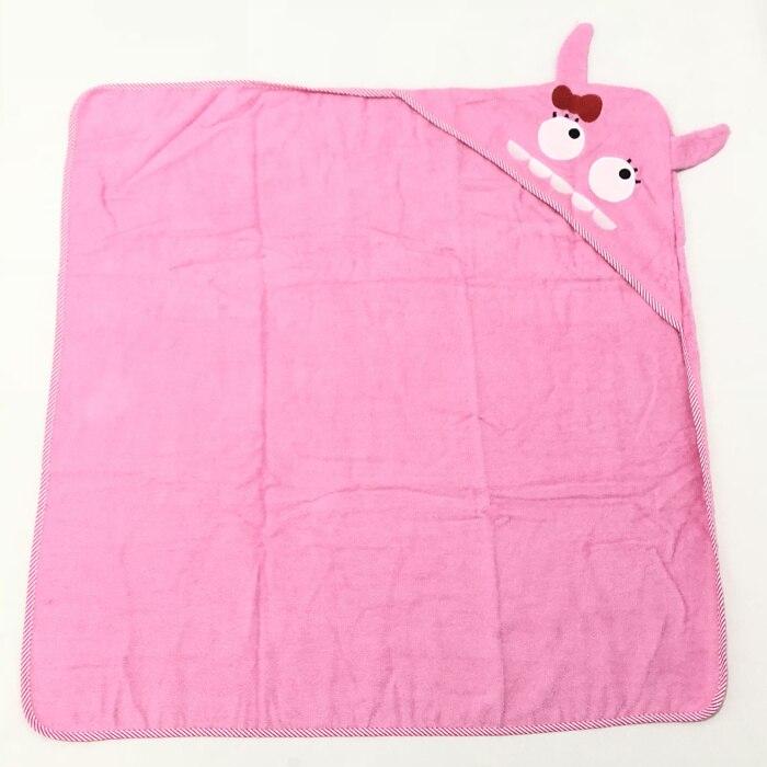 Детское махровое полотенце с капюшоном и изображением животных, халат с изображением животных для малышей, синий От 0 до 6 лет - Цвет: Monster