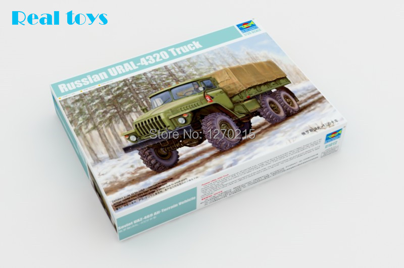 Trumpeter model 01012 1 35 Russian URAL 4320 Truck plastic model kit