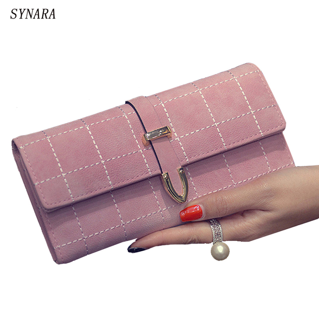 Fashion Long Women Wallets Slim Leather Purse Elegant Ladies Evening Clutch Bag Walet
