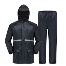new outdoor thickening reflective safety raincoat rain pants suit and Construction labor raincoat or riding fishing