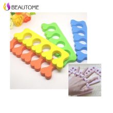 5 Pcs Soft Foam Nail Art Toe Separators Orthedontic Straightening Finger Feet Care Separator Nail Tools