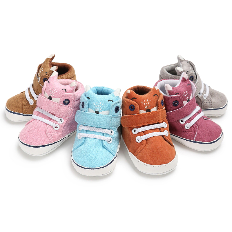 2017 New Color Cute Animal Style Baby Shoes Soft Sole First Walkers Boys and Girls Fashion Sneakers