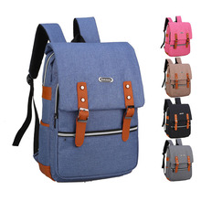 17 Inch Canvas Backpack Notebook Tablet Travel School Men Women Portable Laptop Bag For Mac Dell Acer LG Lenovo Samsung HP