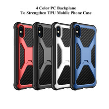 Luxury Reinforcement Anti Fall for iphone6 6S Plus X Case Noble Shape Decompression Design iphone 7 8 PC&TPU Cover