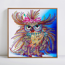 Special Shaped Diamond Painting Owl Handicraft Needlework 3d Drill Mosaic DIY  Embroidery Animal