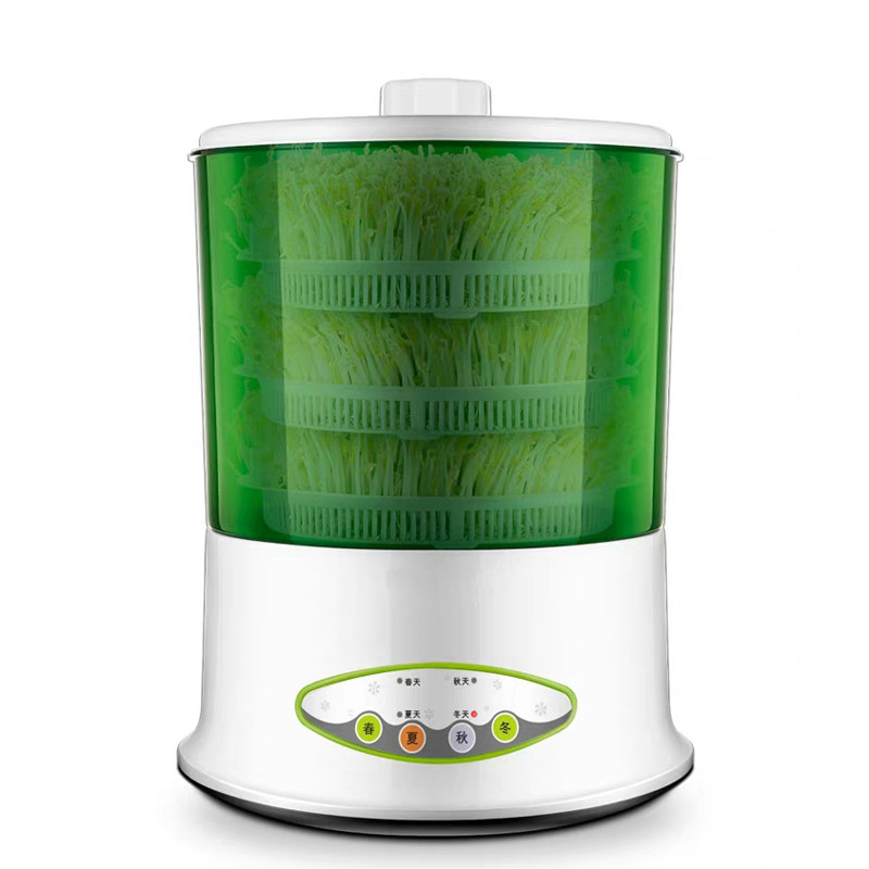 Electric Sprout Bud Machine Intelligent Thermostat Vegetable Green Seeds Growing Automatic Bean Sprouts Maker 2/3 Layer EU