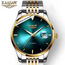 KASSAW Genuine Watch men watch automatic mechanical stainless steel Waterproof Luminous Mens relogio masculino