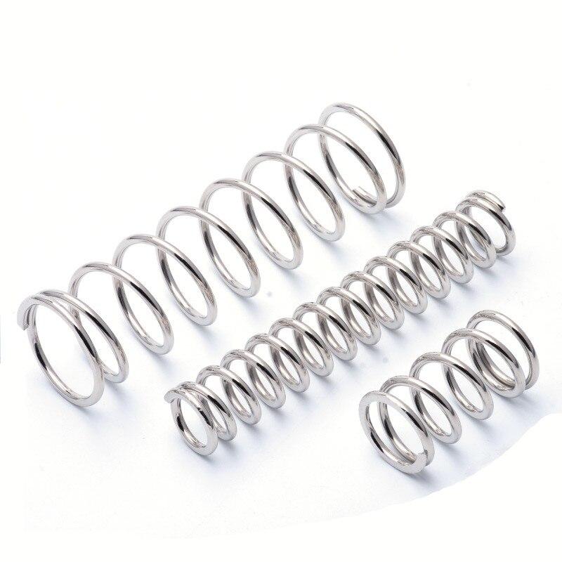 FUMAO 1 шт. диаметр провода 1,0 мм термостойкая Пружина сжатия нержавеющей стали 1,0*15*10 50|Пружины|   | АлиЭкспресс