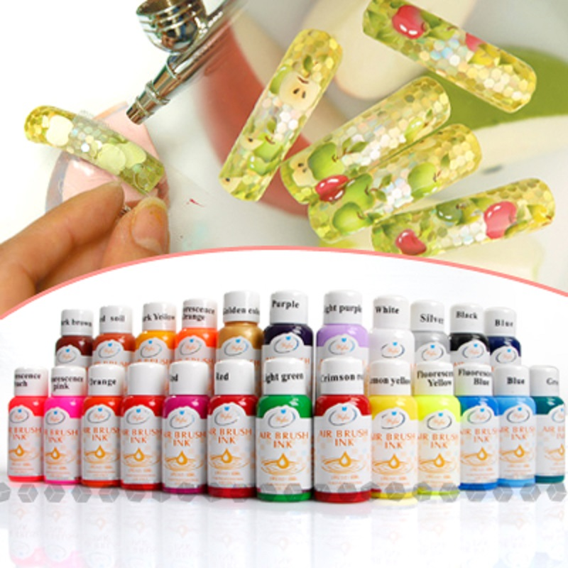 Free Shipping 24 Colours 30ml Nail Art Airbrush Paint Ink For Painting Design Full Set In Sets Kits From Beauty Health On Aliexpress Alibaba