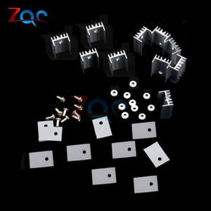 10sets TO-220 Silver Heatsink Heat Sink for Voltage Regulator or MOSFET TO220 Cooler Cooling 20*15*10MM(China)