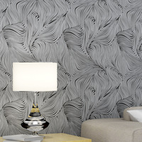 Beibehang Personality Abstract Zebra Line Curve Line 3d Wallpaper Non Woven Bedroom Living Room Backdrop Hotel