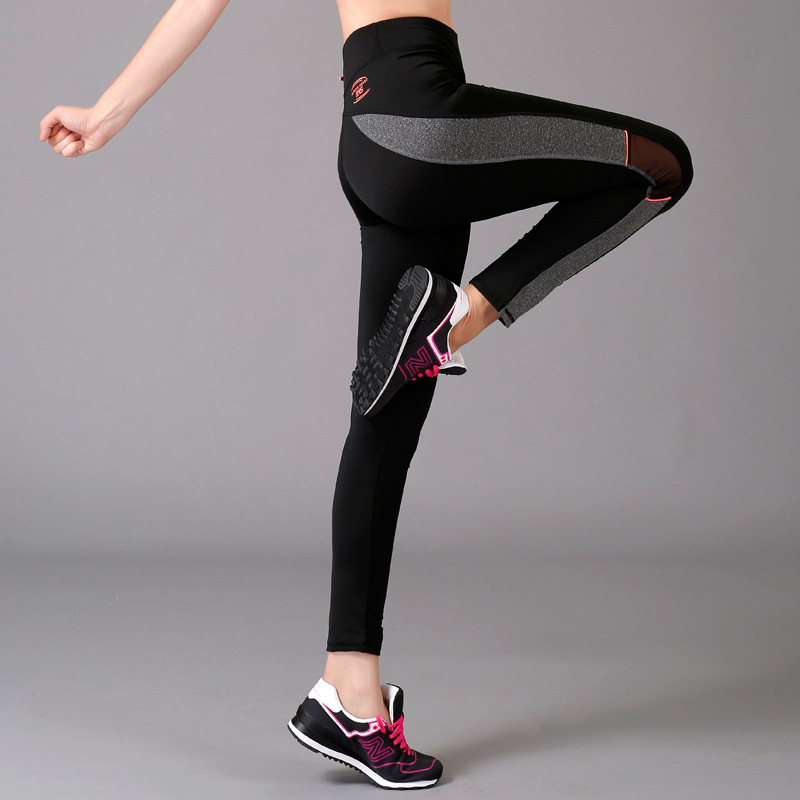 Women's Sports Leggings Tight Yoga Pants, quick drying, Korean Style of the joint color Yoga Pants 910 Sports Pants QY