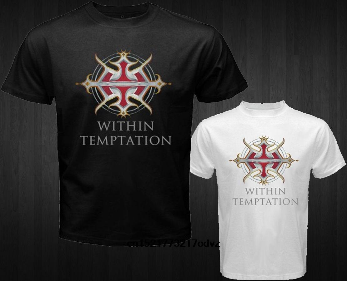 Men T Shirt Fashion Cotton T Shirts New Within Temptation Metal Rock Band Casual Short Sleeve Tops Black Size S 4xl Women